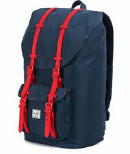 Herschel Little America Mens  Womens & Backpack Rucksack - Navy Red