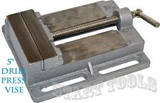 "5"" DRILL PRESS VISE Pipe Clamping Holding 5 Inch Throat Open Workbench Drill NEW"