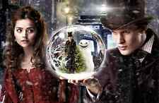"Dr Doctor Who Imported 17"" X 11"" 11th Doctor, Clara, and Snowmen Poster Print"