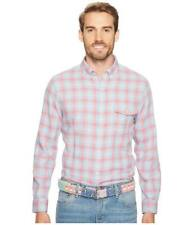 Men's Vineyard Vines Hullman Point Plaid Slim Crosby Shirt Color Mai Tai Size M