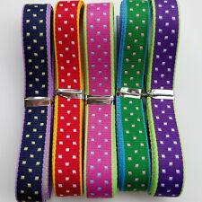 "20Yards 3/8"" (10mm) Dot Special Grosgrain Ribbon 5 Colors Mix Bulk Lots"