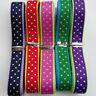 "20Yards 3/8"" (10mm) Dot Special Grosgrain Ribbon 5 Colors Mix Bulk Lots"