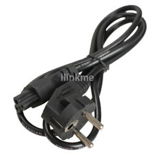 1m EU 3 Prong 2 Pin AC Laptop Power Cord Adapter Cable Black Hot Sale US