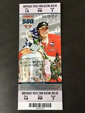 Indy 500 Ticket Stub 2007 showing '06 Winner Sam Hornish Jr.