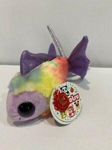 Korimco Animotsu Keel Rainbow Soft Plush Fish  Named Angel BNWT 15cm