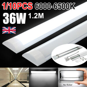 1/10X 4FT LED Batten Tube Light For Garage Workshop Ceiling Panel Dimmable White