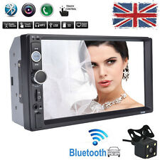 7'' 2 DIN Car Bluetooth Touch Screen Stereo Radio FM MP5 USB AUX Player + Camera
