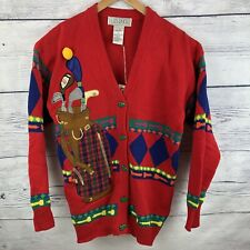 80's Golf Cardigan Sweater Vintage Birdie Caddy Caddyshack Ugly Christmas Gift
