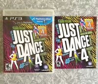 PS3 Just Dance 4 Sony Playstation 3 Complete w/ Manual TESTED Fast Ship!