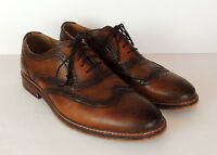Steve Madden Mens 12 Wing Tip Shoes Brown Brogue Leather Lace Up Oxfords