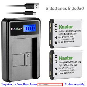 Kastar Battery Charger for Fuji FinePix XP20 XP21 XP22 XP30 XP31 XP50 XP60 XP70