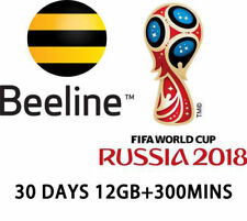 Travel Russia Beeline prepaid DATA phone SIM card LTE 30 days 15GB+300 minutes