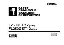 Motor Fuera De Borda Yamaha F250GET FL250GET 2011 piezas Manual reimpreso Peine atado