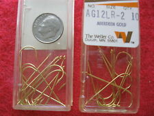 120 VINTAGE WELLER ABERDEEN GOLD SIZE 2 FISHING HOOKS 12 PACKS OF 10, NOS