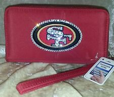 SF San Francisco 49ers NFL Cell Phone Wallet Rhinestone Bling NFL Licensed!