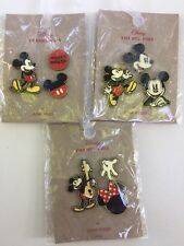 Disney Mickey & Minnie Mouse Pins 3 Sets of 3 Lot by Junk Food