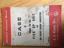 CASE INTERNATIONAL 750 PICK UP 200 IMPLEMENTS OPERATOR MANUAL USED