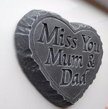 MISS YOU MUM & DAD  Memorial grave stone. in loving memory. Bereavement ornament