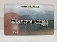 "VINTAGE  ""LAN CHILE Airlines"" TICKET Validation metal Plate  / Rare"