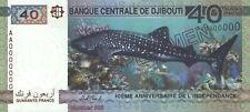 """Djibouti 40 Francs 2017 """"Commemorative"""" 40 Anniversary SPECIMEN"""