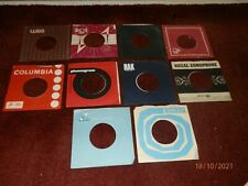 10 x 1960's, 70's Company Sleeves -Vintage Original 45rpm 7inch Record Covers 2