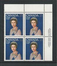 CANADA # 704 QUEEN ELIZABETH II SILVER JUBILEE (Inscription Block, Upper Right)