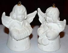 Vintage 1979, 1980 Goebel Christmas Angel Bell Ornament White Porcelain Figure
