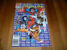 New Mutants #100, NM newsstand final issue, 1991, Cable, Domino, Rob Liefeld