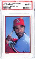 1984 Topps Glossy Set of 40 All-Star Baseball Card_#16 Ozzie Smith_PSA 9 MINT