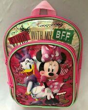 "Multi 3X8X10"" Disney Minnie Mouse Daisy Duck Backpack Purse 2 Pockets Adj Straps"