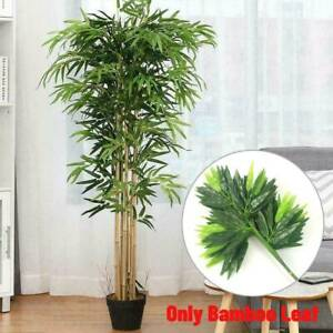 Outdoor Home Decor lastic Artificial Bamboo Leaf Tree Green Plants Nice E3K2