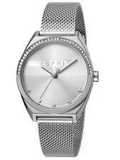 Esprit Slice Glam Uhr Damenuhr Edelstahl Silber ES1L057M0045