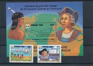 [16019] Burkina Faso 1992 : Good Set of Very Fine MNH Stamps & Sheet