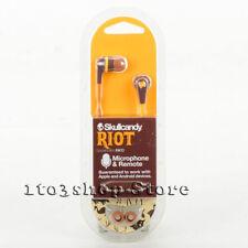 Skullcandy Riot Ink'd In-Ear Buds Headphones w/Mic (Burgundy Brown Explorer) NEW