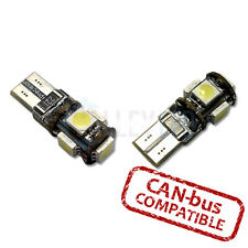 Brillante LED Luz Lateral Canbus 501 W5W Bombillas T10 5 SMD BLANCO