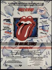 """1984 THE ROLLING STONES """"VIDEO-REWIND"""" VIDEO PROMO AD"""