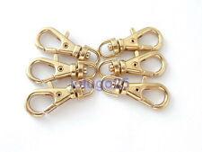 """50 Mini Gold Metal Swivel Clasps Lobster Clasps Clips 7/8"""" x 5/16"""" #3761-50"""