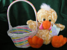 CUTE LITTLE (EASTER BASKET) WITH DUCK ATTACHED  (NEW)