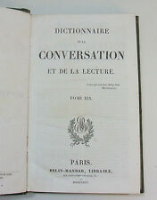 Dictionnaire de la conversation et de la lecture 1822 dos cuir nbx n° au choix