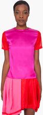 Preen women's colorblock silk short sleeve Sonja top $355 new