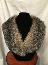 Genuine Grey Fox Fur Collar