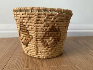 Natural Woven Basket Plant Pot Holder With Plastic Liner