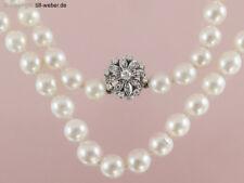 """Perlenkette """"Brillant ca. 0,20 Carat und 8/8 Diamanten"""" 750er Weßgold"""