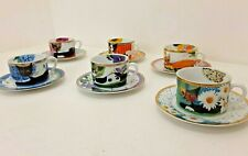 More details for bradford editions rosina wachtmeister cats set of 6 cups and saucers