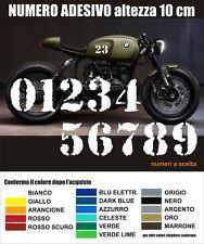 Numero adesivo personalizzato vintage Cafe Racer Scrambler moto stickers decals