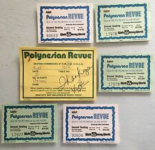 Walt Disney World Polynesian Revue Tickets Reservation Card Used Stamped 1980