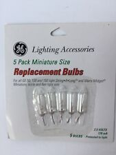 GE LIGHTING ACCESSORIES 5 PACK MINIATURE SIZE REPLACEMENT BULBS 2.5 VOLT 170 mA