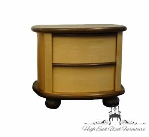 """OAKWOOD INTERIORS Contemporary Modern Maple and Walnut 29"""" Two Drawer Nightstand"""