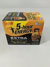 5 Hour Energy Extra Strength PEACH MANGO 6 Bottles Sugar Free Vitamin