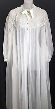 Vintage Radcliffe Pale Blue Long Robe Size Small to Medium Lace and Button Top